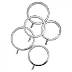 ElectraStim Electrarings Solid Metal Cock Rings Silver 5 Pack