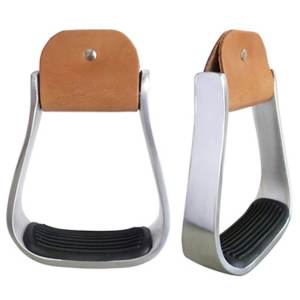 lightwieght-alumium-barrel-stirrups-hill-saddlery-2