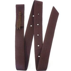 brown-nylon-leather-cinch-tie-strap-hill-saddlery