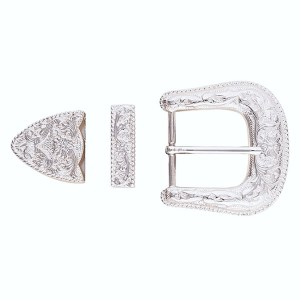 western belt buckle set By hill saddlery