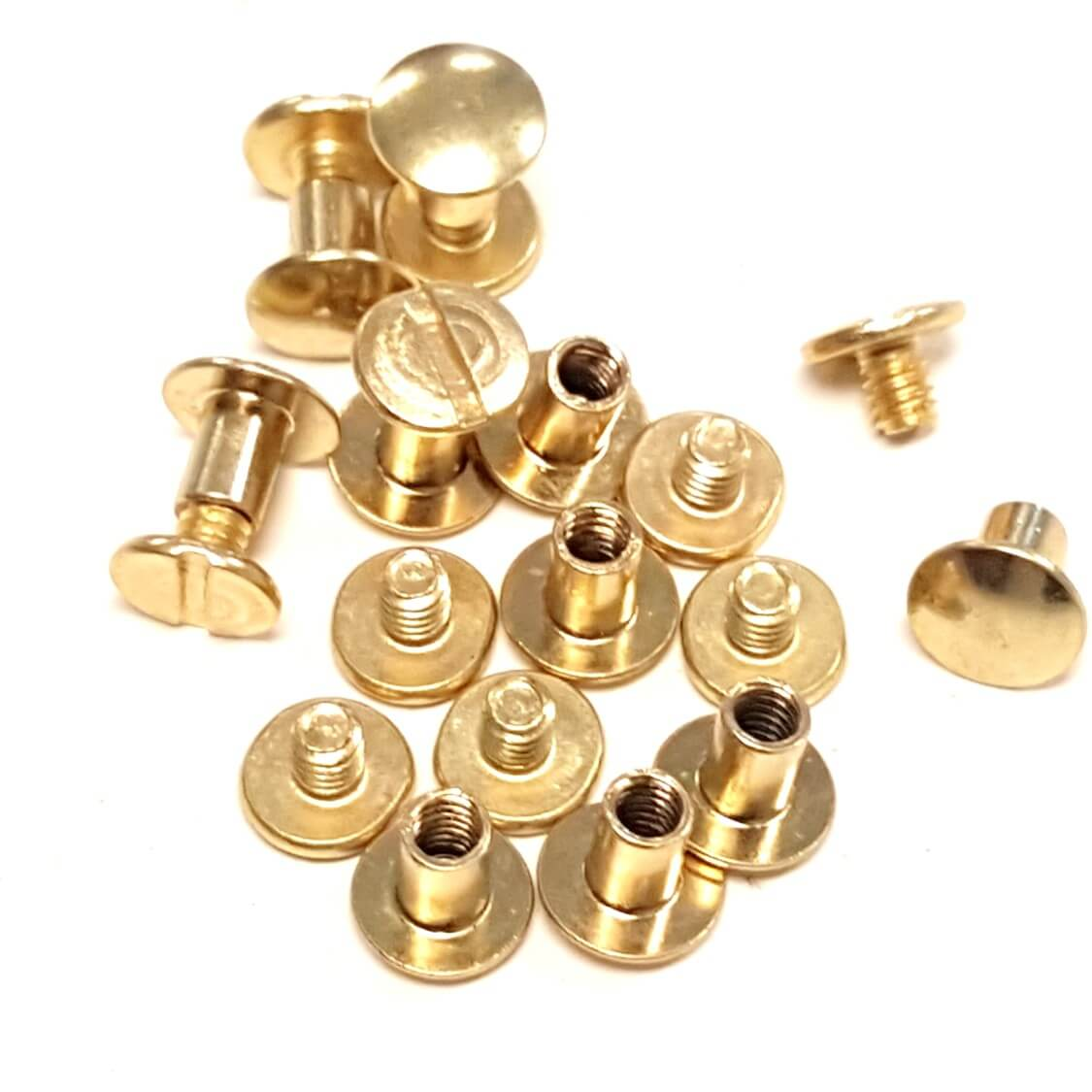 Pack quot solid brass chicago screws ⋆ hill saddlery