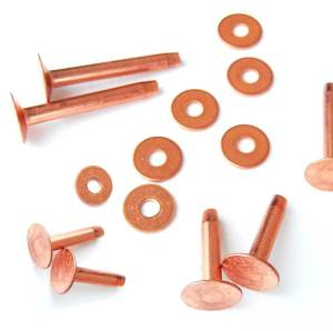 12 pack Solid Copper leather craft rivets by hill leather comapny