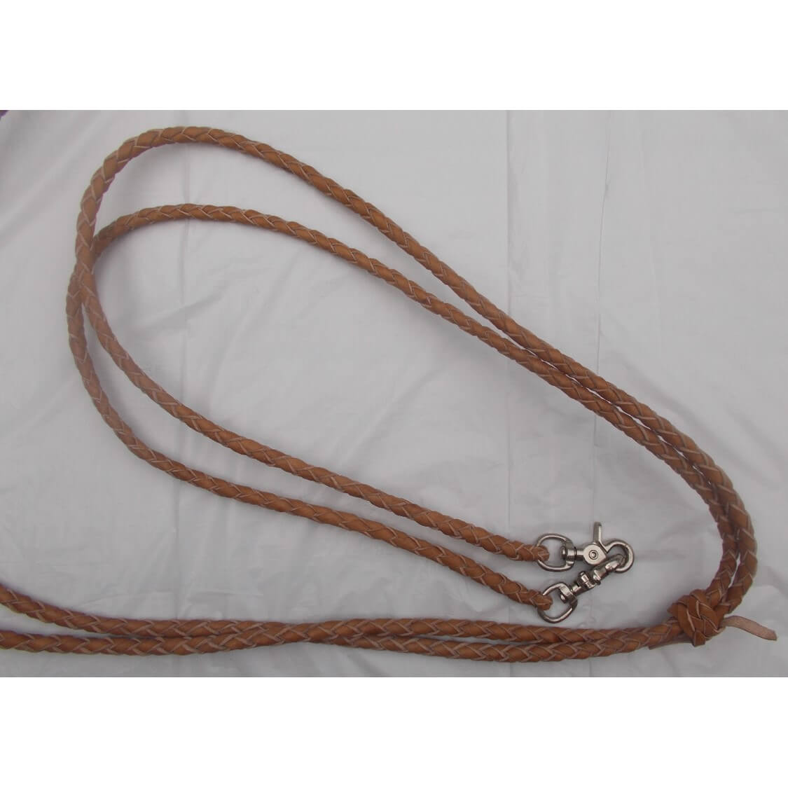 6 1//2/' BLACK Leather Braided Western Split Reins With Scissor Snap Ends TACK!