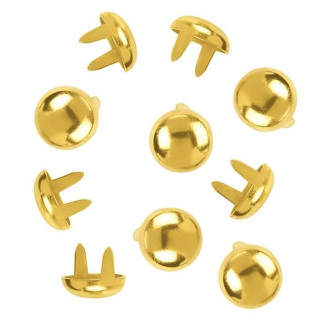 """3//16/"""" Nickel Solid Brass Round Spots Studs For Leather"""