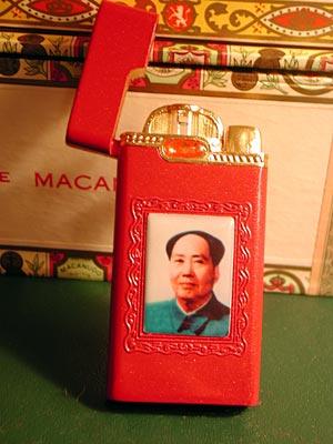 Chairman Mao Cigarette Lighter  Julies Tacky Treasures