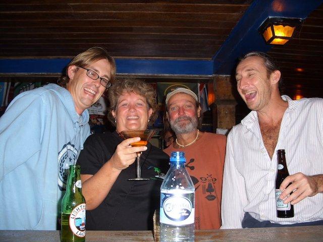 Having a drink at Canucks