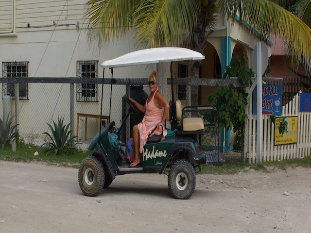 Madame with her new cart