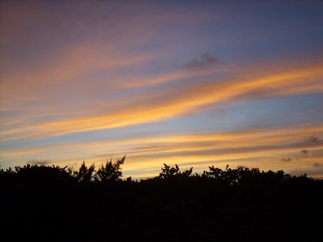 Gorgeous sunset on Ambergris Caye