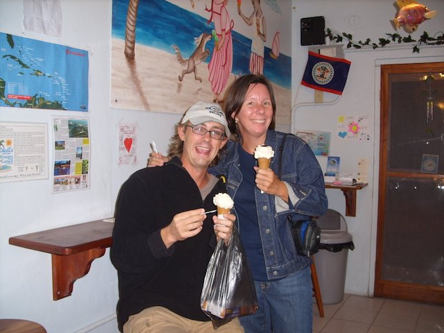Laurie and Paul with ice cream