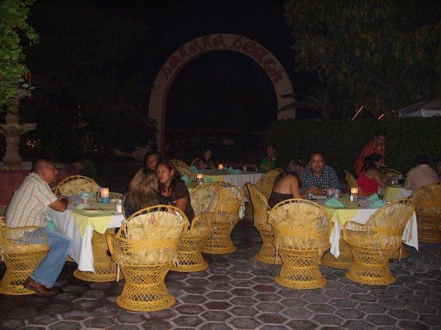 Outside party at Banana Beach