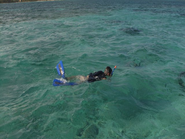 Snorkeling in the blue