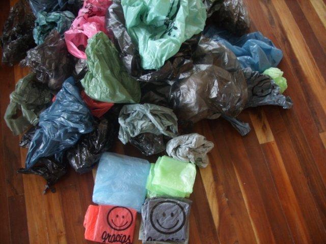 Sorting plastic bags