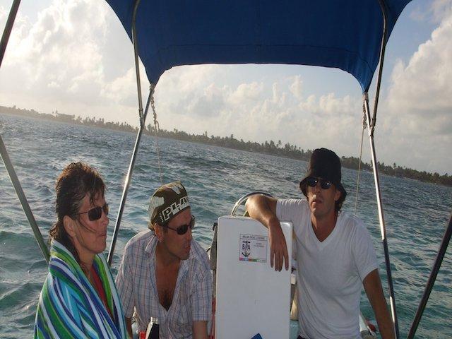3 men on a boat