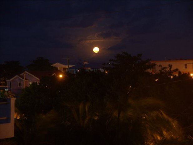 Full Moon over Ambergris Caye