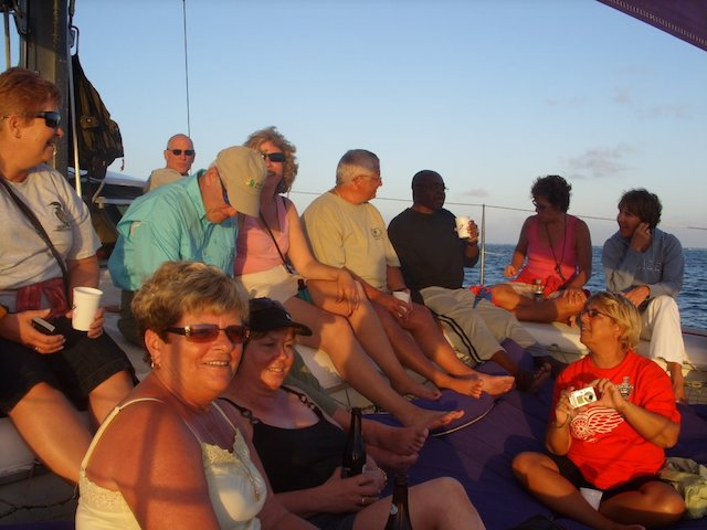 Sunset cruise people