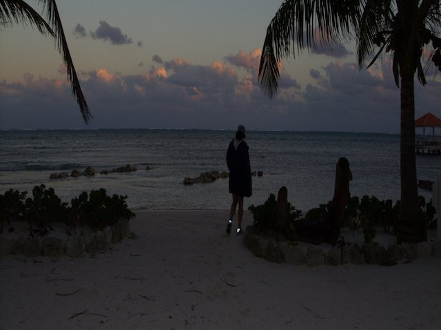 Evening stroll on Ambergris Caye