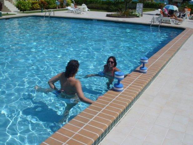 Workout at Royal Palm Villas pool