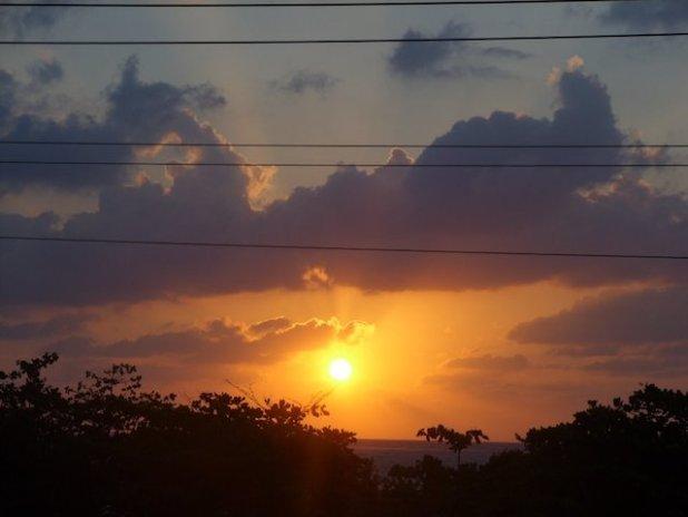 Sunrise on Ambergris Caye