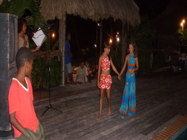 Zulema and Lucy modelling for Caribe Creations