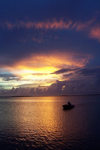 Sunset from Ambergris Caye