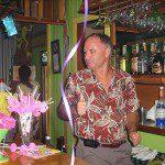 Grant guest bartending