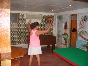 Cindy throwing the boquet