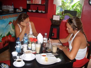 coffee tasting at Hummingbird Cafe