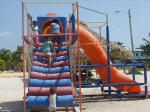 enjoying playground