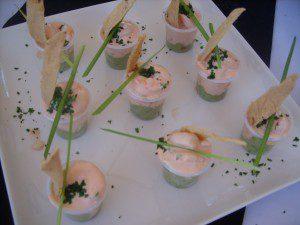 Shrimp and guacamole