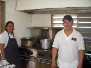 Miss Rosalie and Chef Victor from Sunset Grill