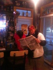Carbunke Trumpet & Elvis reading Ambergris Today