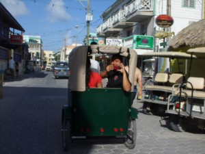 Ambergris Daily gang taking a ride in town