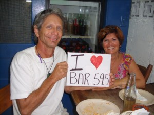 Gary and Carole heart Bar 595