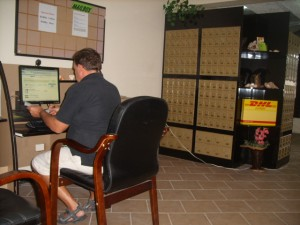 Rob filling out shipping details for my order