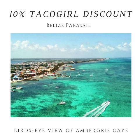 Parasailing Tour Ambergris Caye 10% tacogirl discount at Belize Parasail Plus