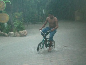 Annual Belize rainfall
