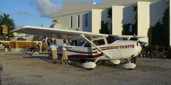Tropic Air Cessna Caravan Belize flight