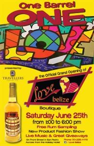 One Love - 1 Barrel - Love Belize - Travellers Rum