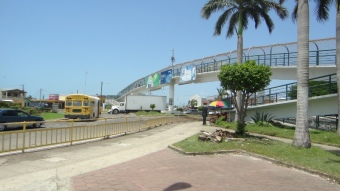 Belize City foot bridge