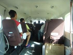 Inside Tropic Air Cessna Caravan