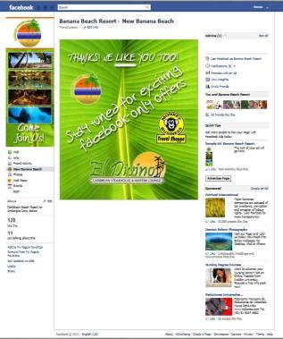 Banana Beach Belize custom facebook landing page