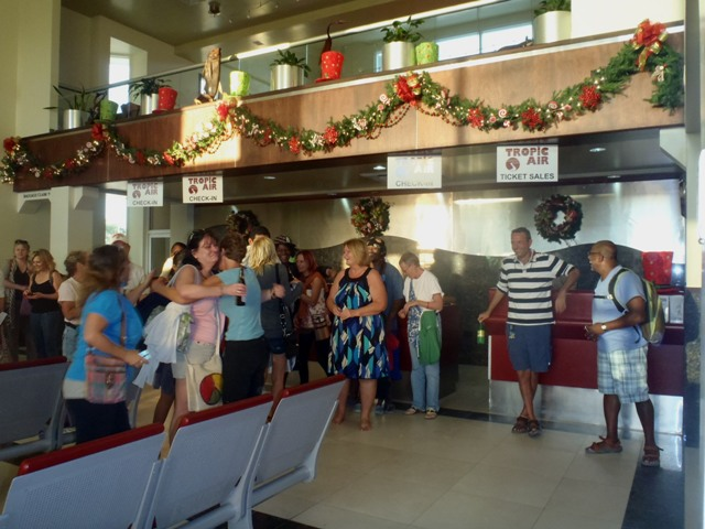Belize airport flash mob