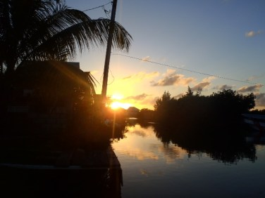 gorgeous belize sunset picture