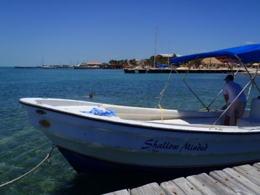 boat in belize image
