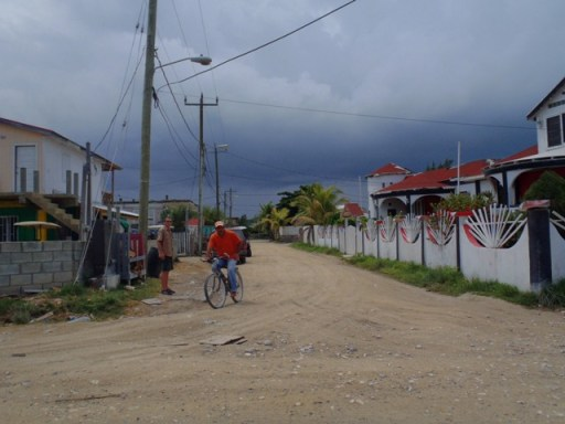 Weather in Belize is stormy