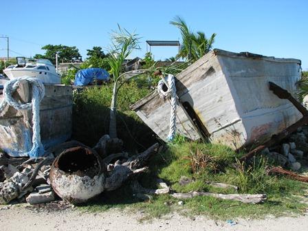 wood boat in belize
