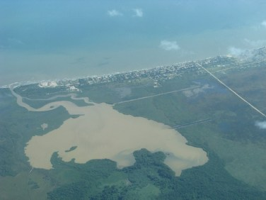 coastline of belize aerial photograph