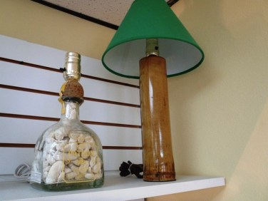 handmade bottle lamps