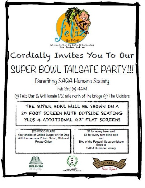 belize humanesociety cook-off and super bowl tailgate party