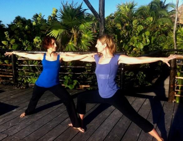 sunrise yoga in tulum